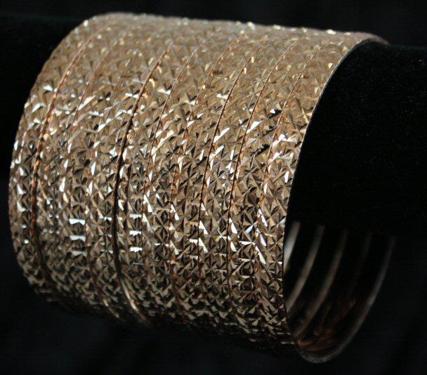 Bnb Diamond Cut Bangle Bracelets 6mm 7 Piece Semanario Set