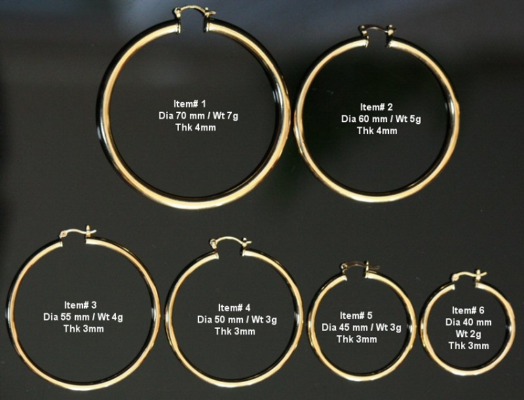 Product Information Description Pair Of Plain Gold Layered Hoop Earrings