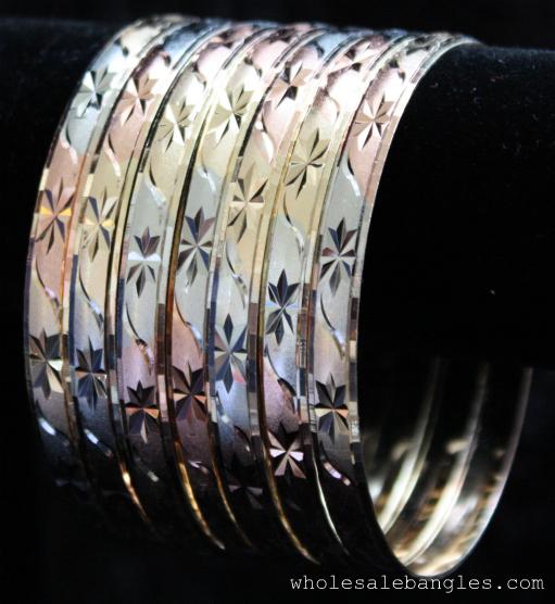 Mexican Seven Day Semanario Tri Color Bangle Bracelets