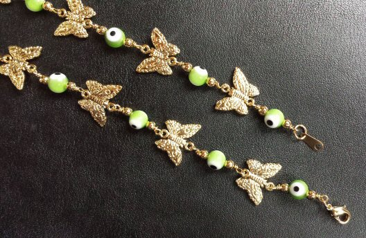 Gold Plated Bead Bracelets Erfly Charm Bracelet Zoom