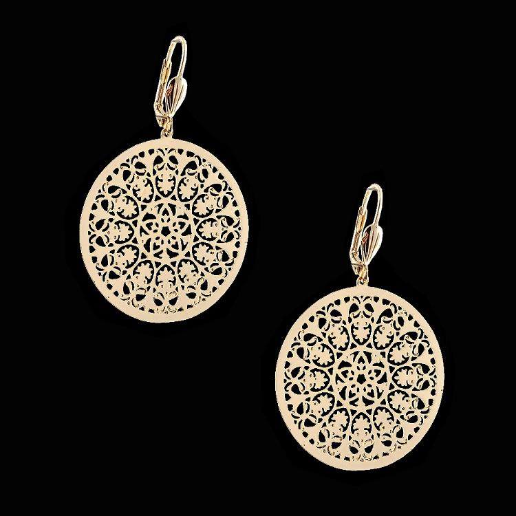 18Kt Gold Layered | Filigree Fashion Earrings