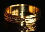 18Kt GF Gold Layered Oro Laminado Finger Ring - GPR-001