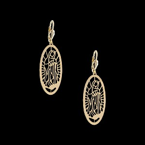 Gold Layered Fashion Earrings - Guadalupe