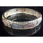 3 Tone Filigree Bangle (1 Piece)