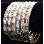 7 Day Stackable 3 Tone Semanario Set Bracelets