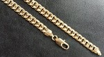 14 Kt Gold Filled Curb Link Chain Bracelet