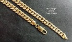 160 Gauge Gold Layered 4 mm Curb Link Chain - 24 Inches