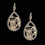 Oro Laminado | Gold Layered Filigree Hoop Earrings - Style 3