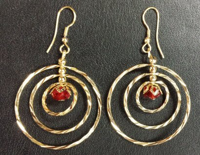 14 Kt Gold Filled Earrings with Bead